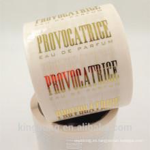etiqueta adhesiva adhesiva permanente para cosméticos con alta calidad