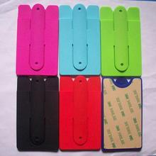 Silicone ID Card Holder Mobile Phone Support
