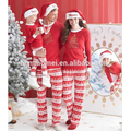 Hot sale! Christmas winter wear one set family christmas pajamas wholesale kids christmas pajamas in red and white color