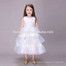 La principale attraction blanche Tulle Puffy Layers Boutique vêtements robe d'anniversaire pour bébé fille