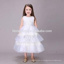 A atração principal White Tulle Puffy camadas Boutique vestuário vestido de aniversário para menina