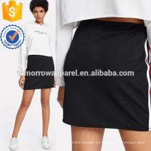 La falda lateral de la cinta rayada fabrica la ropa al por mayor de las mujeres de la manera (TA3070S)