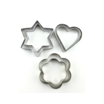Различные формы печенья печенья звезда пресс-формы
