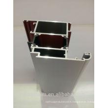 Profil de fenêtre en aluminium revêtu de poudre