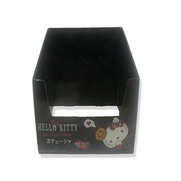 Caixas de exibição de papelão preto