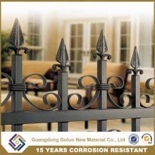 Fer forgé en aluminium Fermeture en acier métallique Cour arrière décoratif Jardin