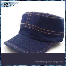 Tissu de denim bleu de qualité supérieure chapeaux militaires
