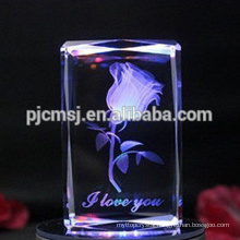 Best selling durable using Colorful Light Base 3d Laser Crystal Cube