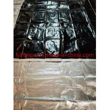 Black Silver PE Tarp Cover