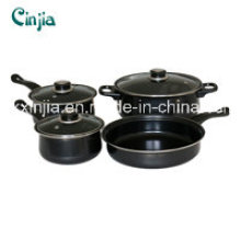 7PCS Carbon Steel Non-Stick Cookware Set