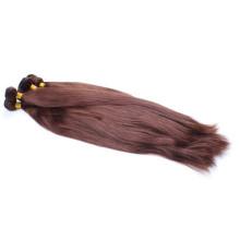 Cabelo humano reto indiano de seda remy