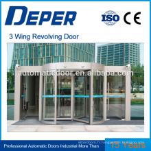 système de porte tournante porte en verre trempé ouvre-porte automatique porte automatique commerciale pour supermarché