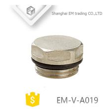 EM-V-A019 Bouchon d'obturation du radiateur en laiton du système de chauffage