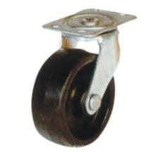 Rodízio de borracha preta industrial (sc300)