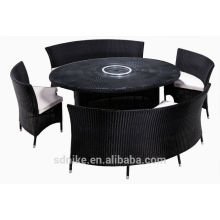 oval rattan rotating top table +cheap dining tables for sale