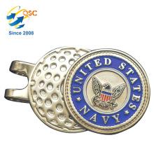 Fabrik-kundenspezifischer preiswerter kundengebundener Magnet-Golfball-Markierungs-Kappen-Klipp