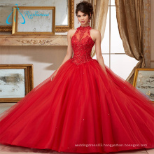 Sequined Beading Crystal Lace Appliques Quinceanera Dresses Gowns