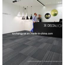 Carreaux de tapis modulaires commerciaux en nylon avec support en PVC