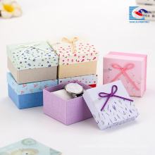 Mädchen Schmuck Geschenkbox Großhandel anpassen mit Logo Druck Halskette Boxen Masse
