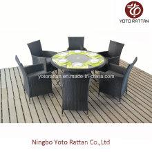 Wicker Tisch & Stuhl für Outdoor (1308)
