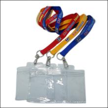 Lanière faite sur commande de support de bobine de porte-badge en plastique de nom / carte d'identité bon marché pour le badge d'identification (NLC011)