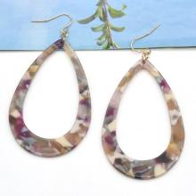 Custom tortoiseshell pattern hook earring jewelry for women iridescent trendy acetate ear ring