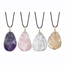 Colgantes de piedra natural encantos estilo mixto forma de gota de agua amatista ágata cristal cuarzo cuentas de piedras preciosas Chakra curativo