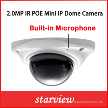 2.0MP mini micrófono incorporado CCTV de la seguridad digital de red de la cámara IP IP
