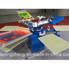 6 Color 6 Station Manual T Shirt /Fabric Screen Printing Machine/Screen Printer Spm650