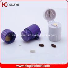 Caixa de comprimidos de plástico com trituradores de comprimidos e cortador de comprimidos (KL-9060)