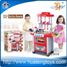 Ensemble de cuisine Plactic Kids de haute qualité avec éclairage et musique, avec certificat EN71 / 7P / 62115 / ASTM / HR4040 / EMC H123618