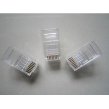 Made in china shenzhen manufactory amplificador rj45 conector cat6, rj45 macho cat6 conector PC material