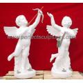 Escultura de mármol de piedra de la escultura de la querube de la estatua del ángel (SY-X042)