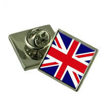 Bottom price for Cross Flag Pins United Kingdom Flag Enamel Pins Made By Iron export to France Exporter