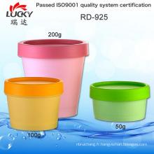 Pot en plastique de crème pot vide Rd-925
