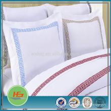 estilo liso zippered descorou a caixa branca do descanso do bordado / a decoração home do descanso