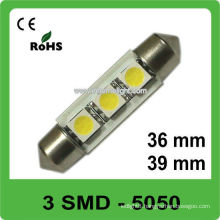 36&39mm 3 SMD led auto festoon lamps