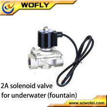 1/4 '' ~ 2 '' válvula de solenoide subacuática de bajo voltaje de acero inoxidable presión media temperatura normal