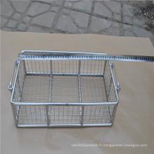 Panier de rangement en acier inoxydable utilisé dans la cuisine