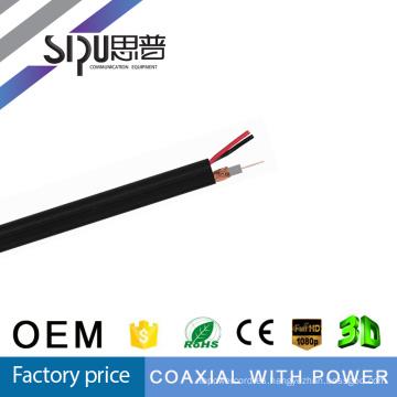 SIPUO RG59 + 2C cable para CCTV Camera.75 Ohm! Marca de fábrica del OEM. Toma de muestra con Free.MOQ 100PCS.