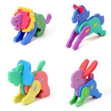 DIY Cartoon Animal 3D EVA Foam Sticker EVA Puzzle Arts &Crafts Baby Handcraft Material Educational Toys
