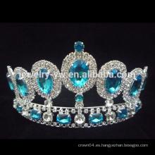 Venta al por mayor nueva moda big strass moda desfile coronas