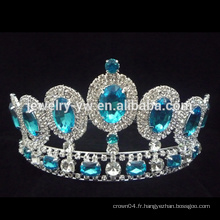 Vente en gros Fashion Fashion Big Rhinestone Fashion Pageant Crowns