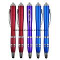 Bolígrafo de plástico con luz LED Stylus (LT-C738)