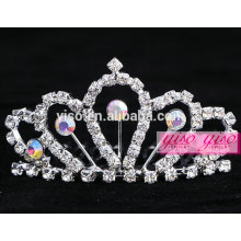 crystal flower big wedding tiara