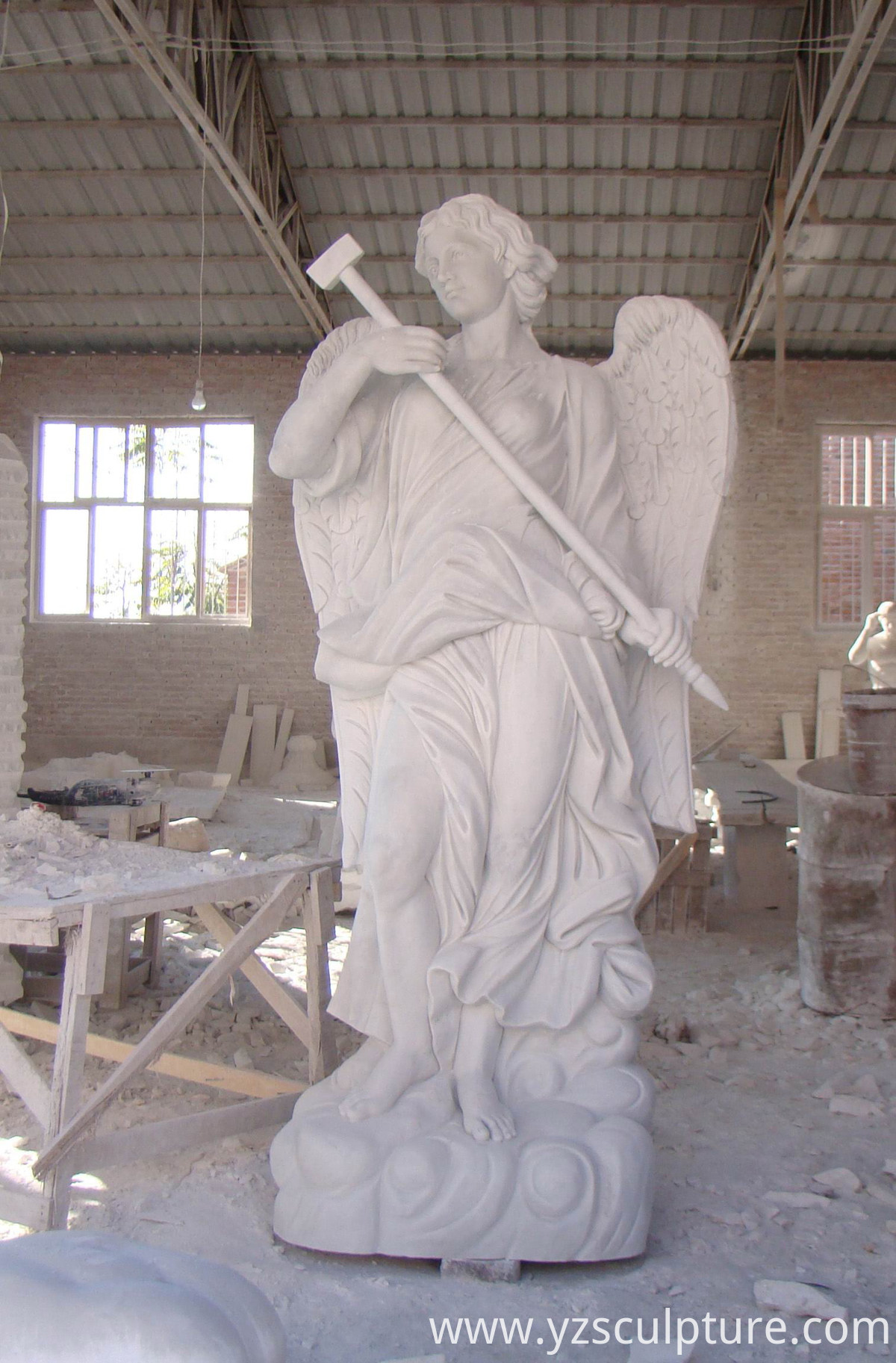 famous white marble angel