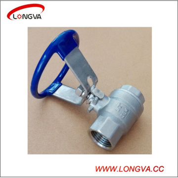 Sanitary Stainless Steel Two Piece Threaded Ball Valve with Oval Handle