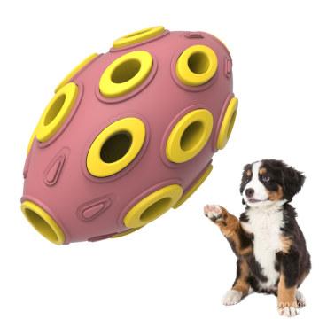 Dispensador de guloseimas de borracha para cães com quebra-cabeça durável
