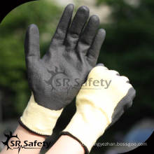 SRSAFETY 13G knitted liner coated nitrile Anti-cut work gloves aramid fiber glove