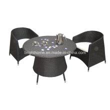 Открытый сад PE Патио Обеденный стул и стол